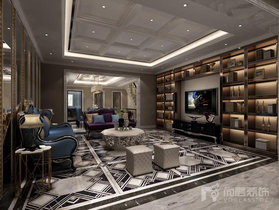 远洋天著新奢华客厅别墅装修效果图
