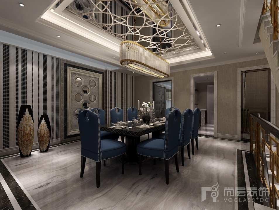 远洋天著新奢华餐厅别墅装修效果图