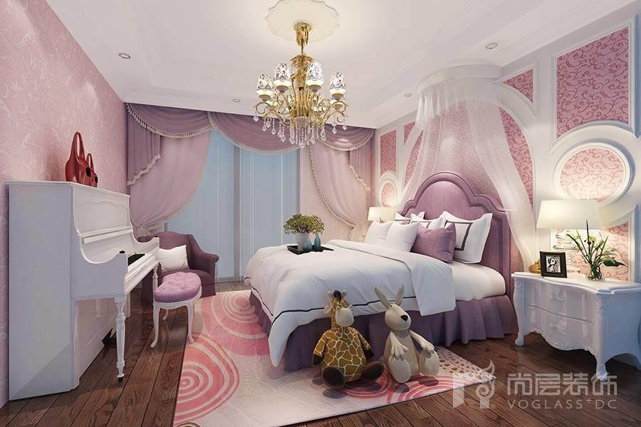 女儿房温馨可爱,甜美的小公主风,是家里靓丽的风格.