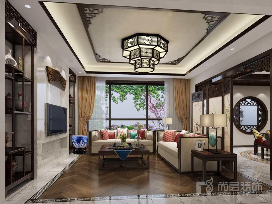 北京院子中式会客厅别墅装修效果图