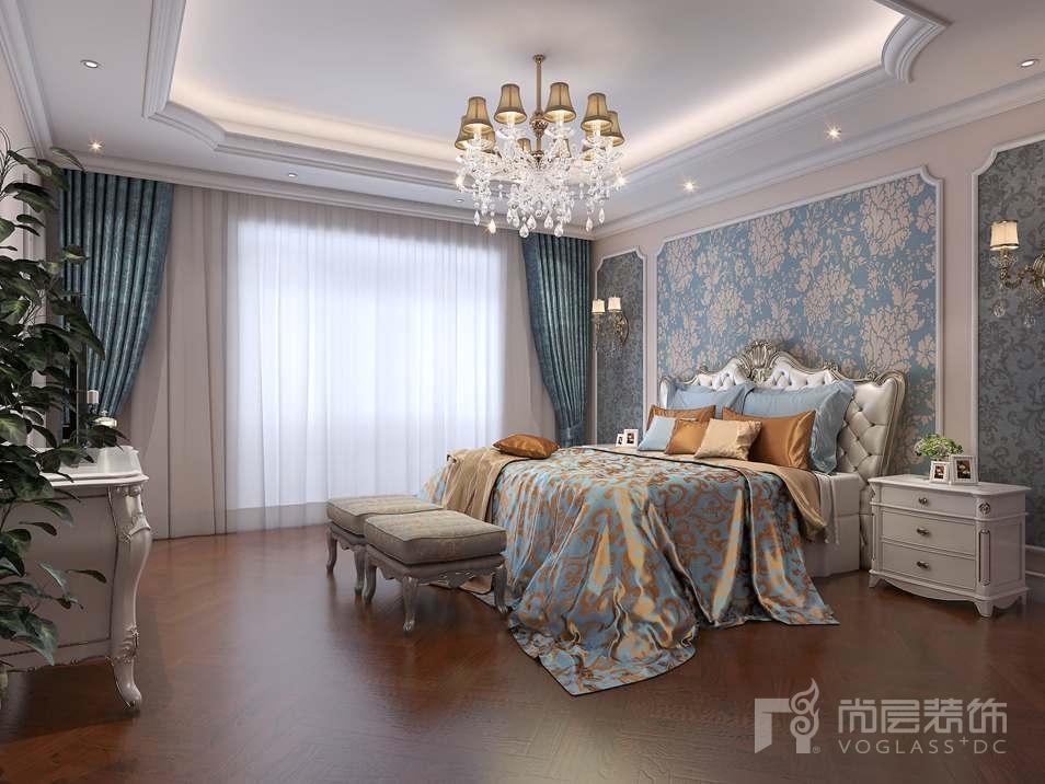 远洋天著欧式卧室别墅装修效果图