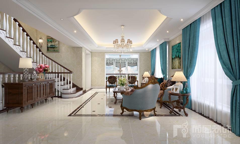 远洋天著欧式客厅别墅装修效果图