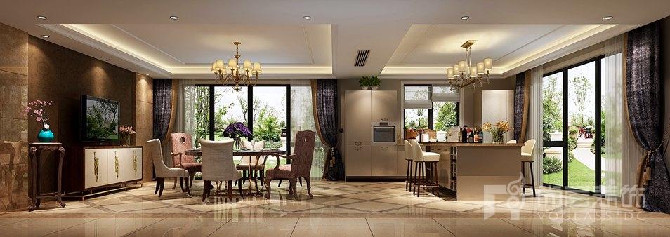 万科如园美式餐厅别墅装修效果图