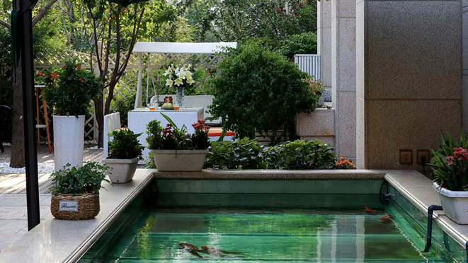 北京欧式风格园林庭院别墅装修案例_样板间效果图_图
