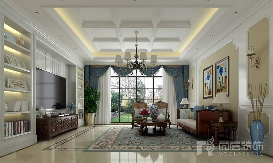 金科王府美式客厅别墅装修效果图