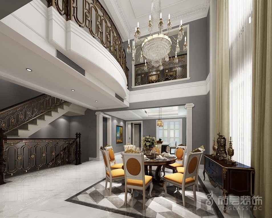 远洋天著美式新古典餐厅别墅装修效果图
