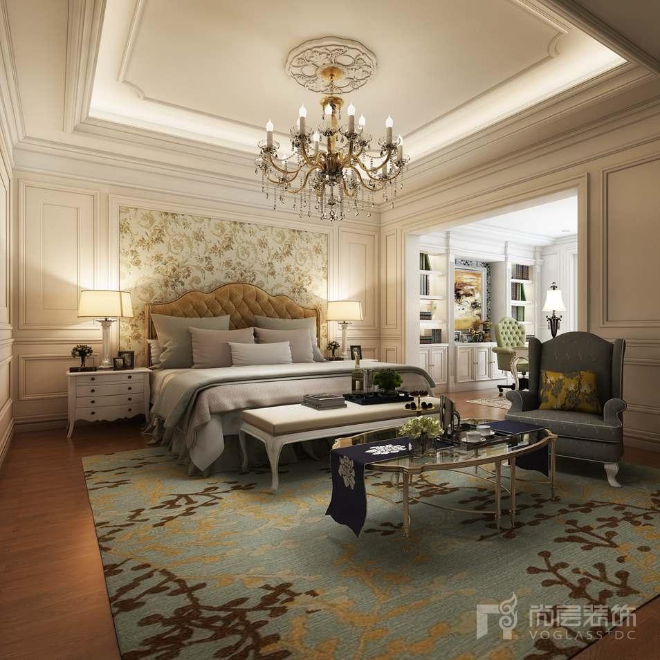 远洋天著美式新古典主卧别墅装修效果图
