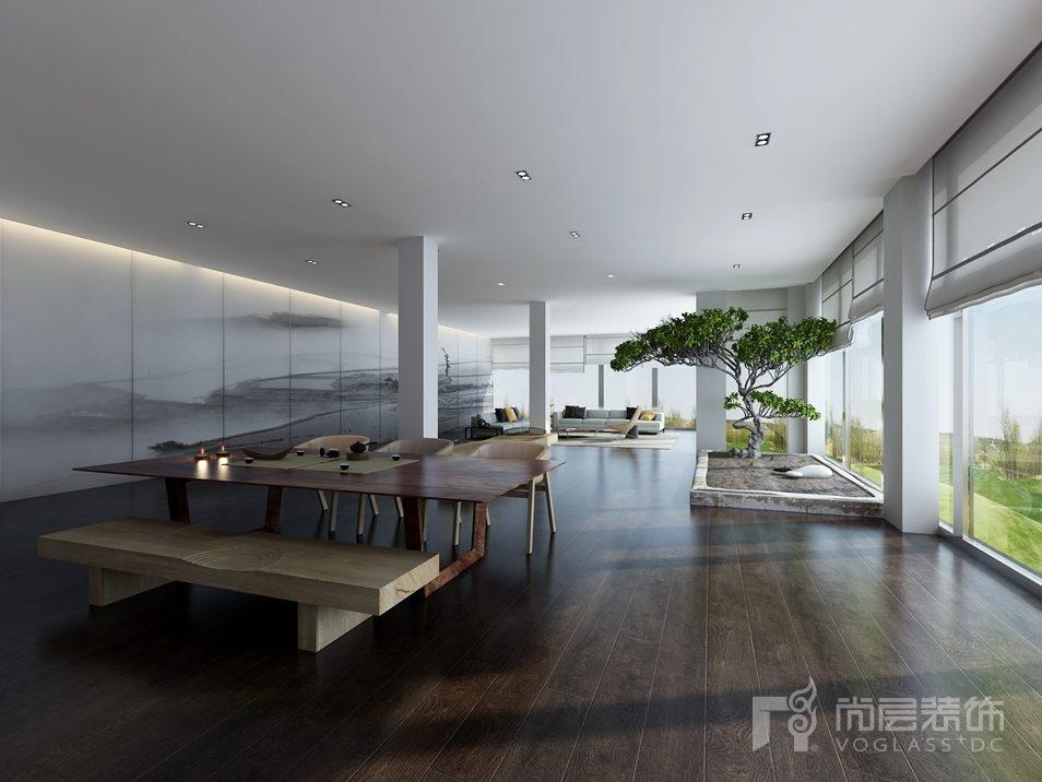 丽宫现代中式休闲室别墅装修效果图