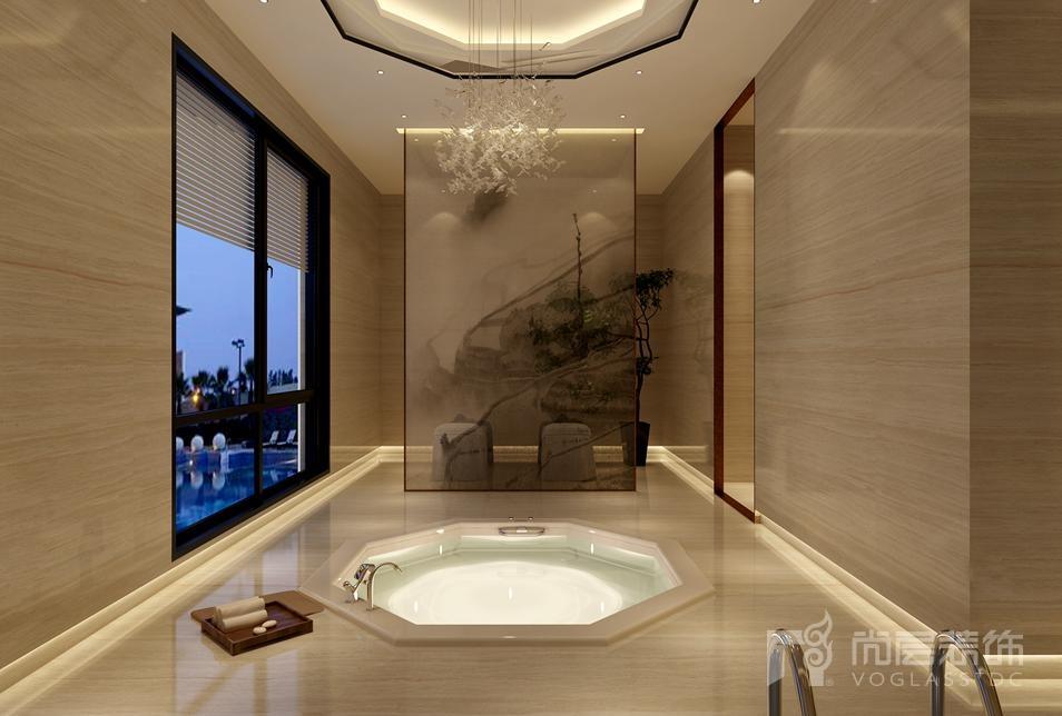 丽宫现代中式spa室别墅装修效果图