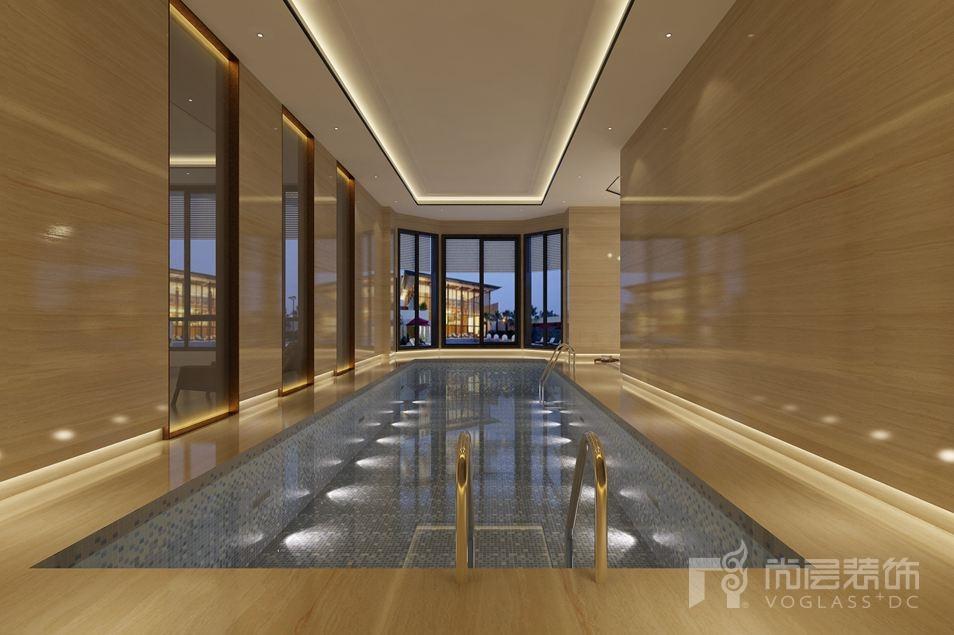 丽宫现代中式游泳池别墅装修效果图
