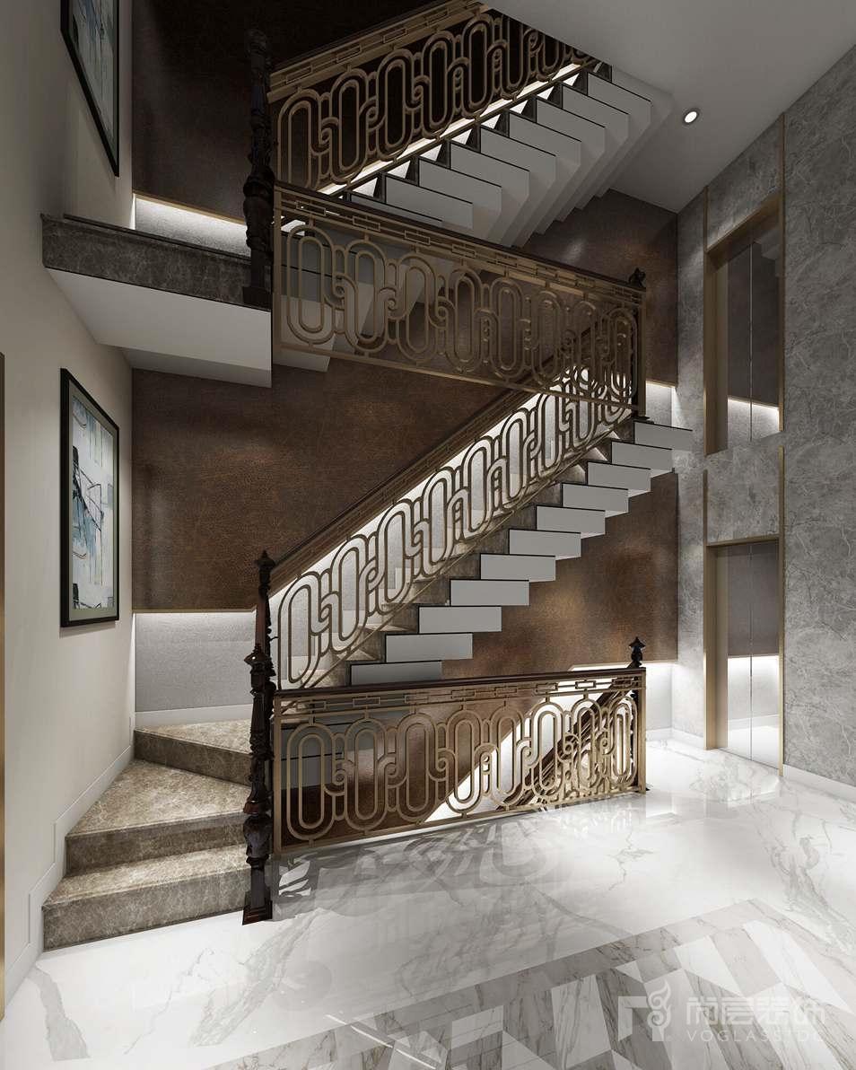 远洋天著现代楼梯别墅装修效果图
