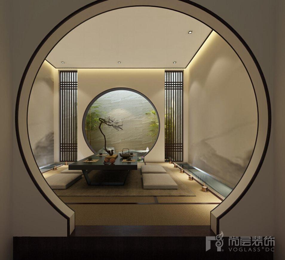 会展誉景新中式茶室别墅装修效果图