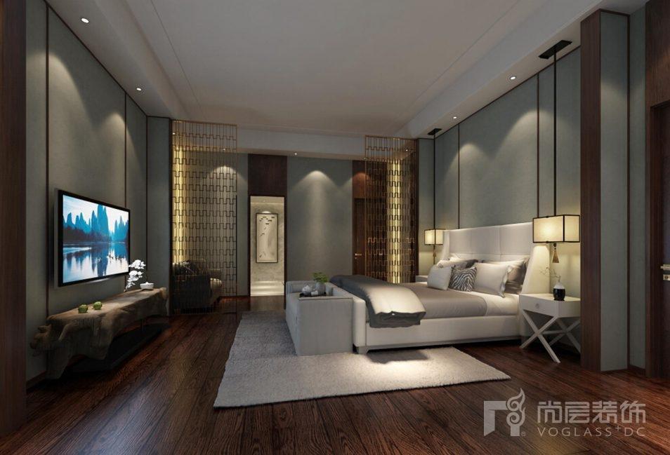 会展誉景新中式卧室别墅装修效果图