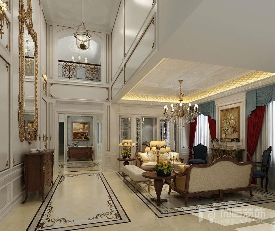 新世界丽樽混搭客厅别墅装修效果图