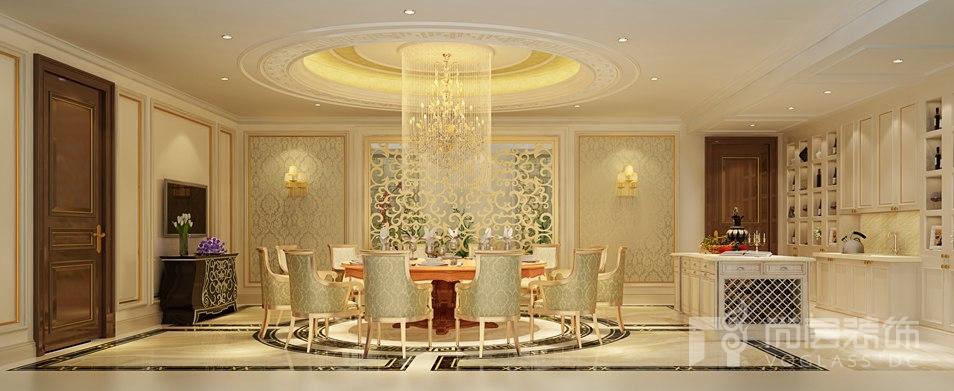 香山清琴欧式餐厅别墅装修效果图