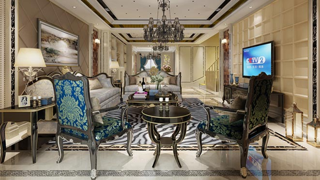 双珑原著新装饰客厅别墅装修效果图