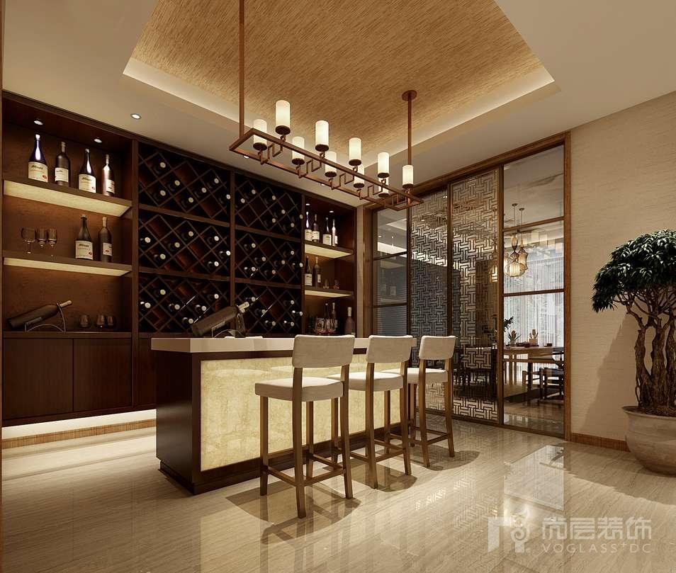 瓦德拉玛庄园新中式酒吧别墅装修效果图