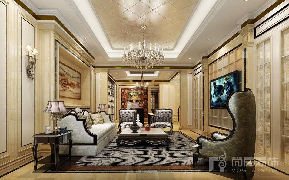 双珑原著新装饰地下客厅别墅装修效果图