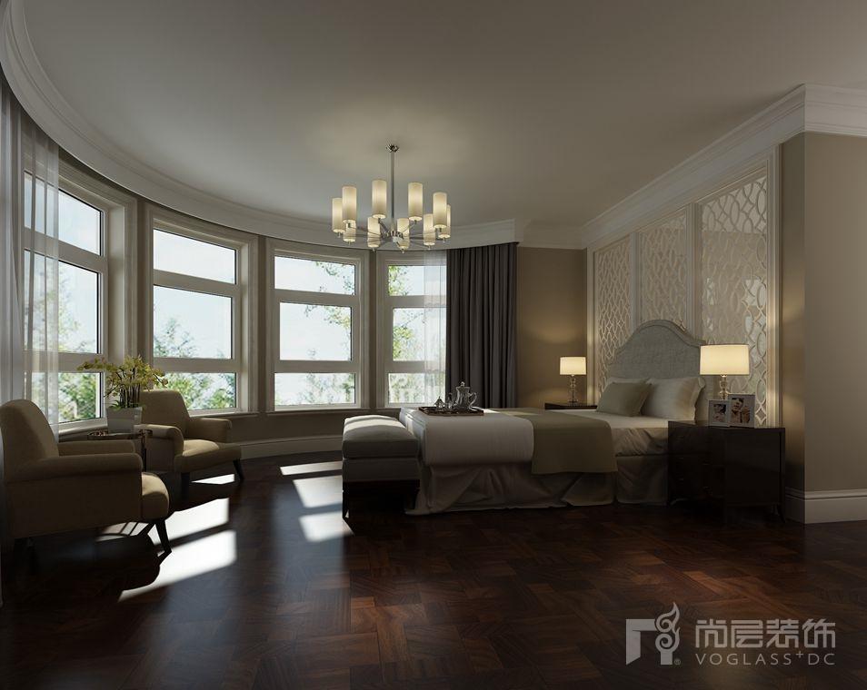 一栋洋房简约美式卧室别墅装修效果图