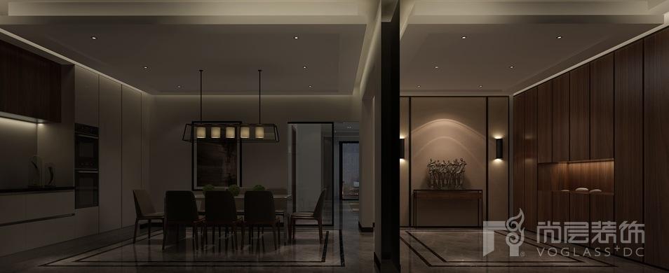 复地首府现代简约玄关及餐厅别墅装修效果图