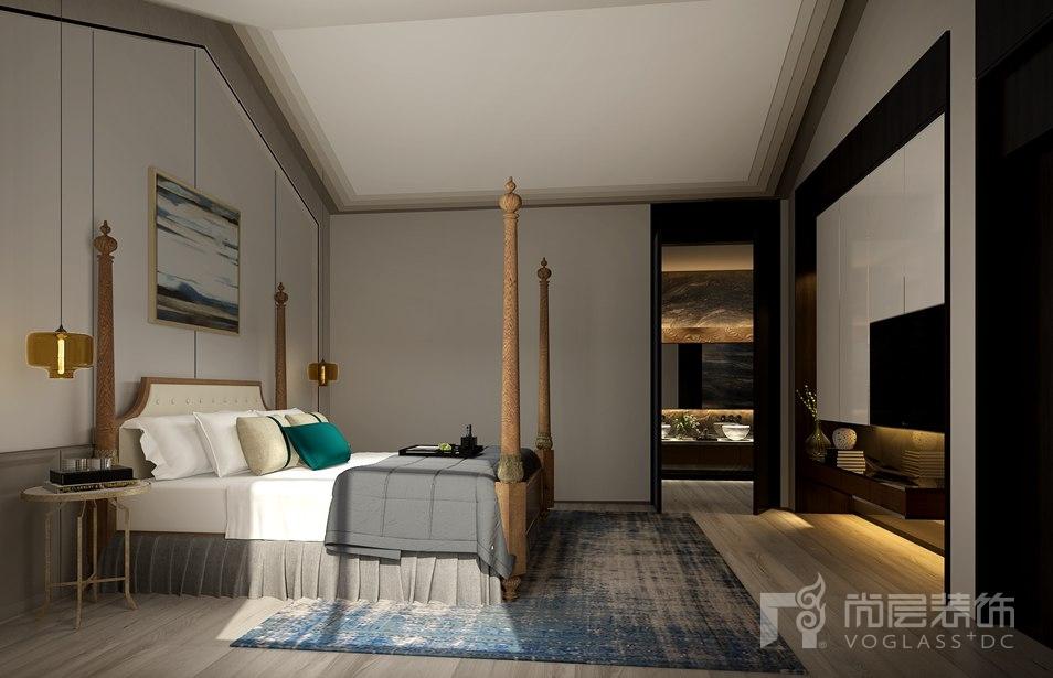 远洋天著现代简约卧室别墅装修效果图