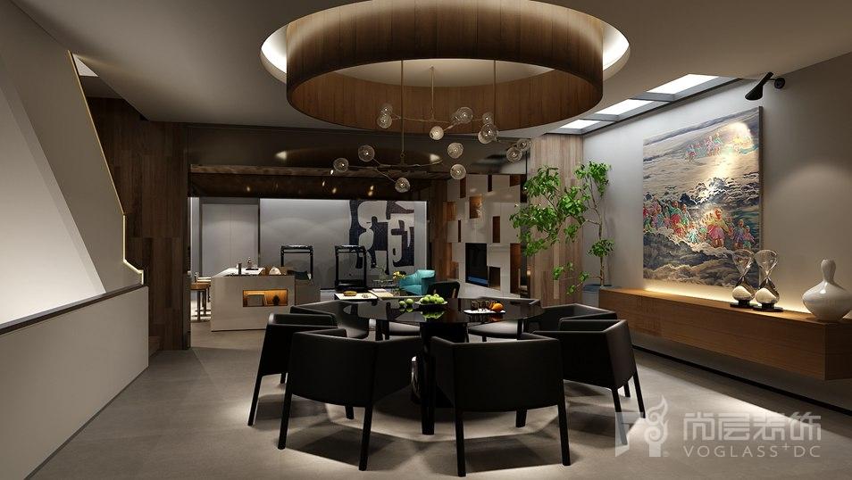 远洋天著现代简约餐厅别墅装修效果图