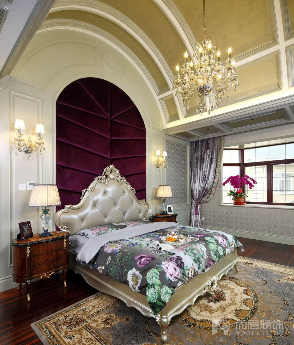 东方普罗旺斯新古典卧室别墅装修实景图