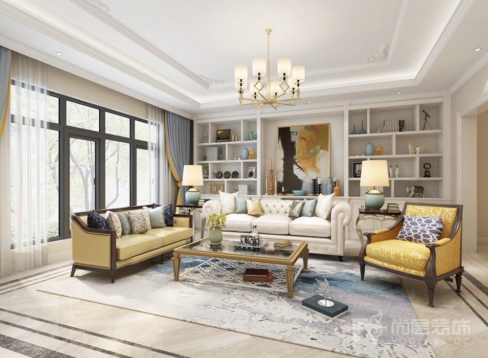 远洋天著客厅新古典别墅装修效果图