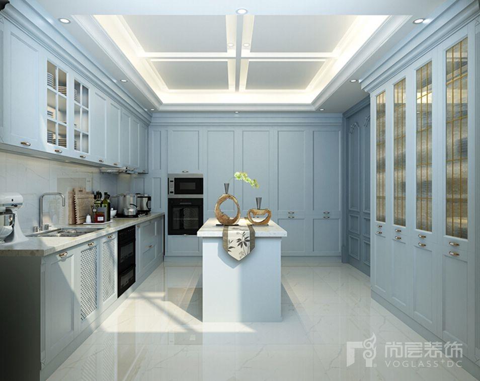 丽樽新世界法式厨房别墅装修效果图