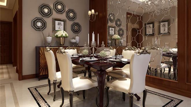 艾力枫社新古典餐厅别墅装修效果图