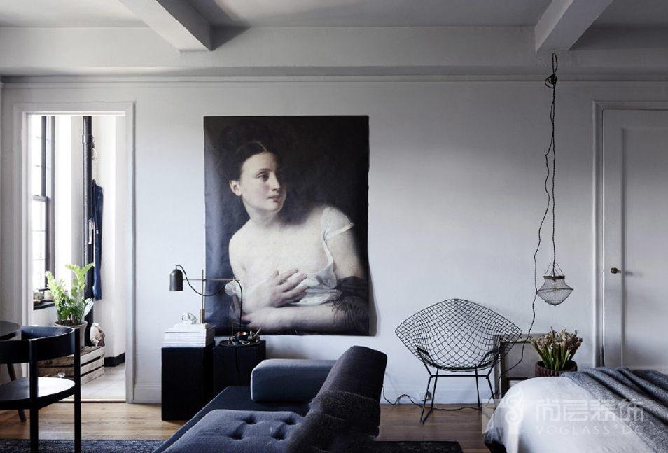 画品在现代简约风格空间中的装饰