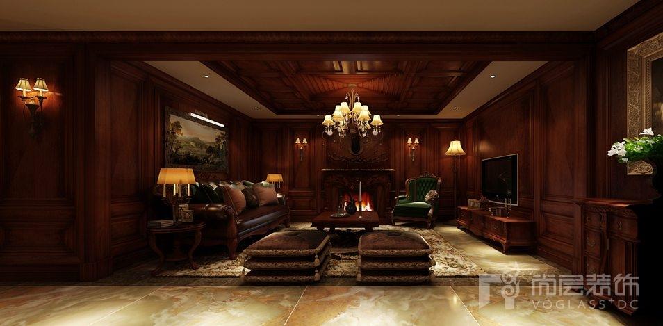 颐和原著怀旧古典客厅别墅装修效果图