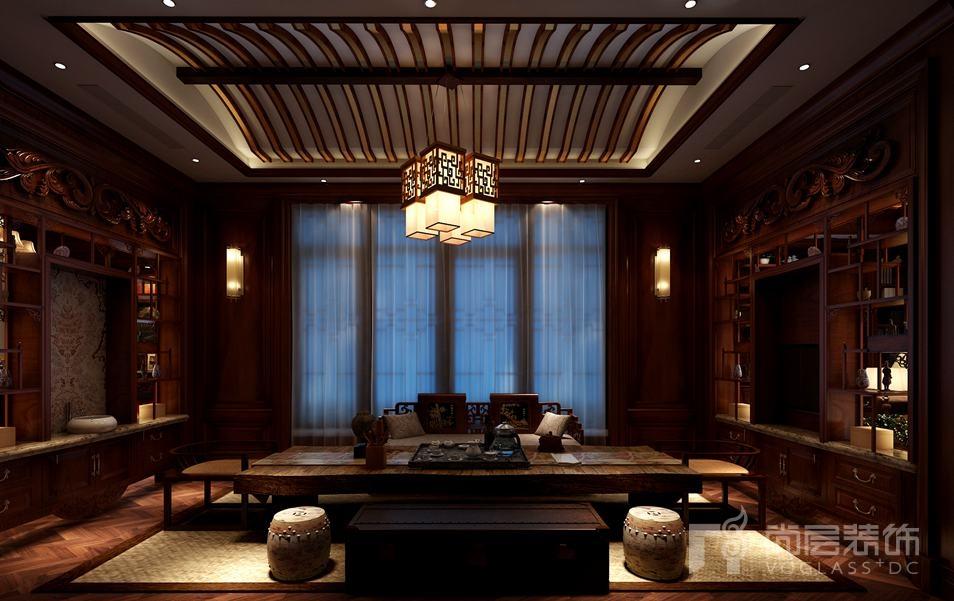 颐和原著怀旧古典茶室别墅装修效果图