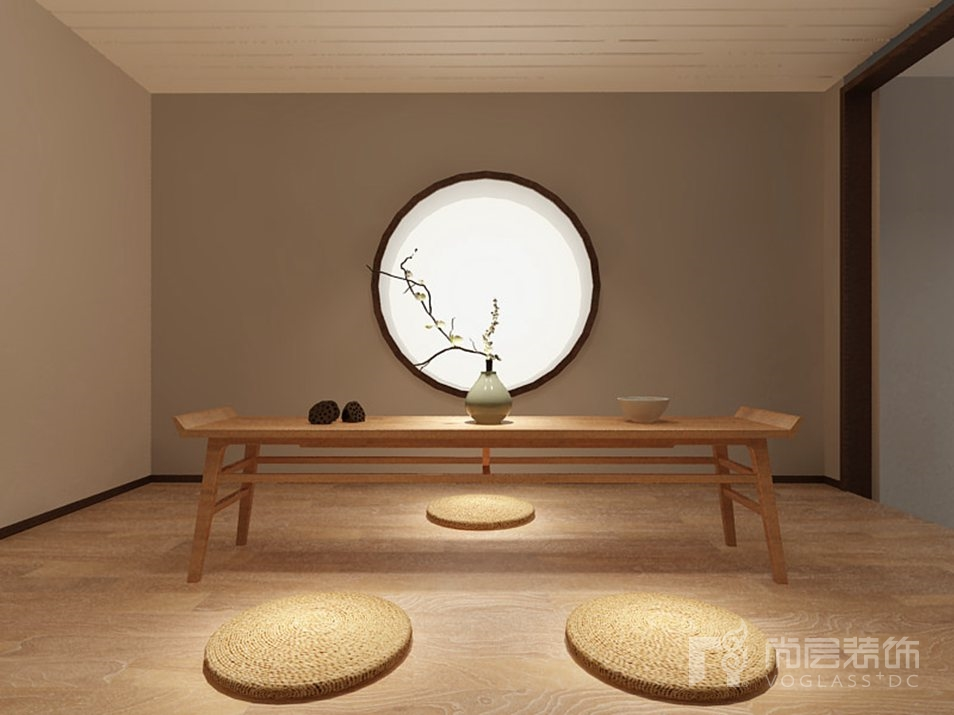 尚峰尚水新中式茶室别墅装修效果图