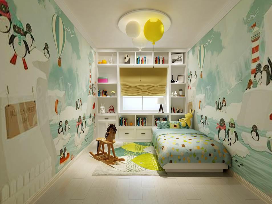 远洋天著法式儿童房别墅装修效果图