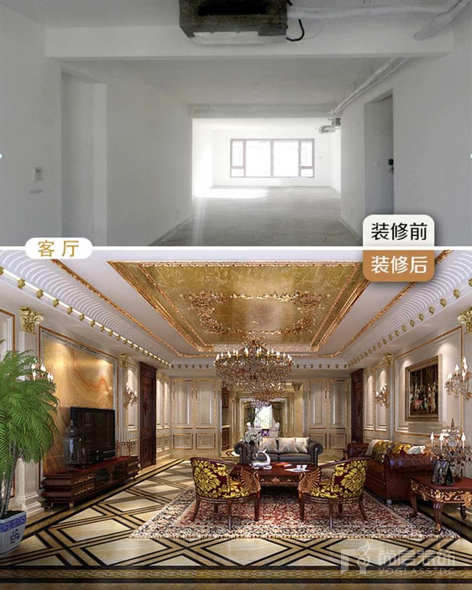 尚层装饰别墅装修前后对比