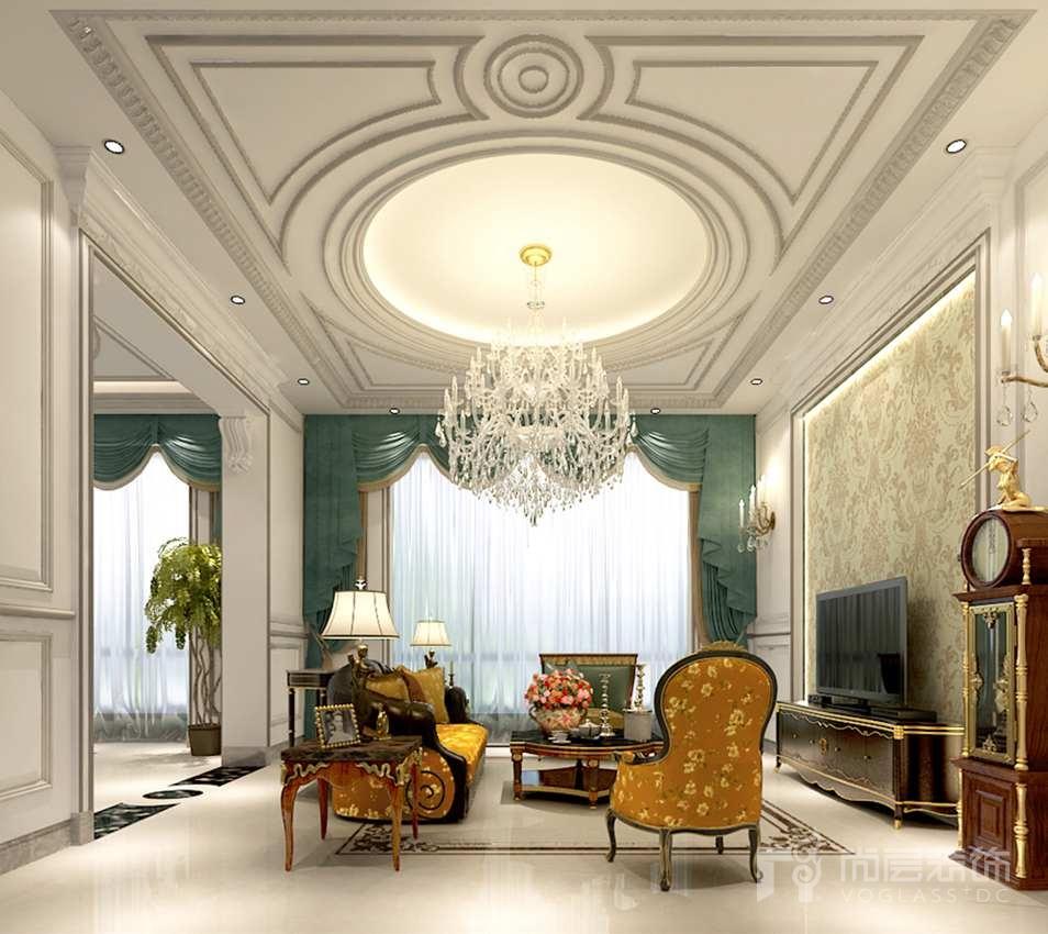 香港别墅欧式客厅别墅装修效果图