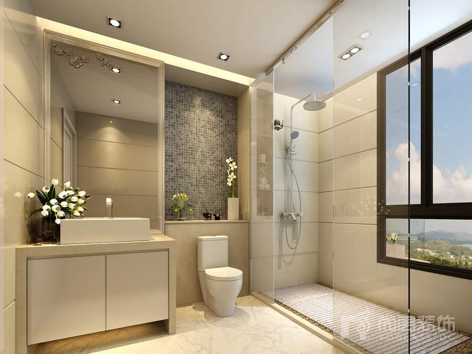 香港别墅欧式卫生间别墅装修效果图