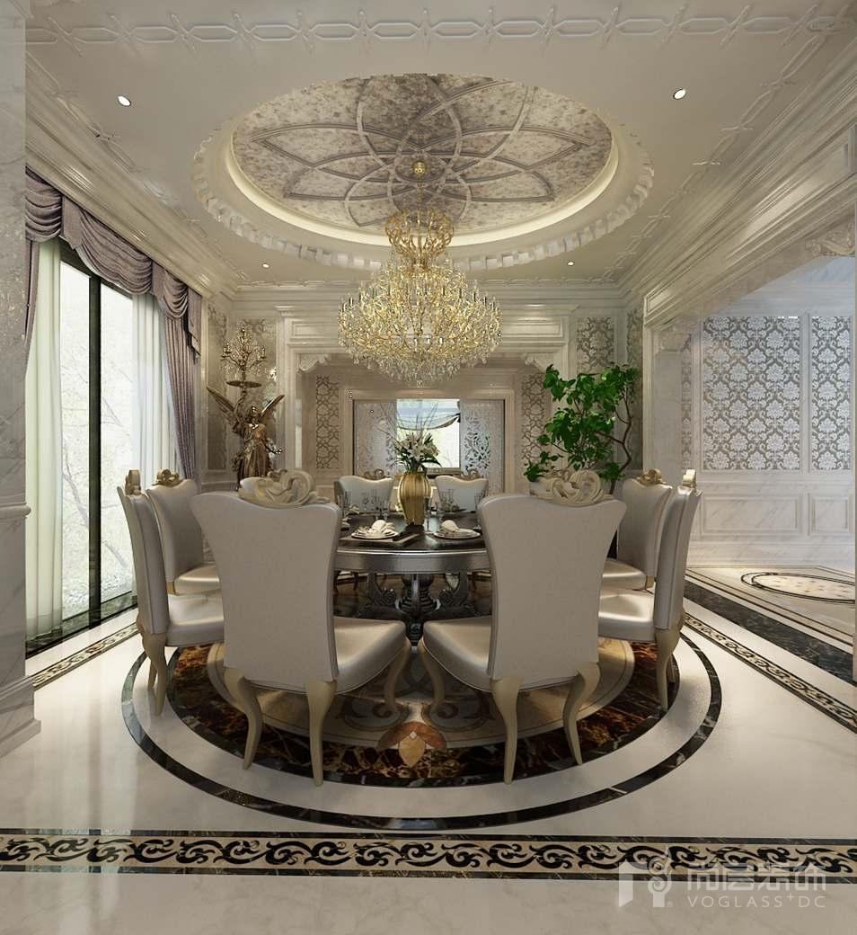 嘉禾一方新古典餐厅别墅装修效果图