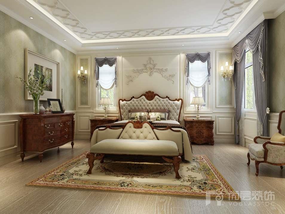 燕西华府美式卧室别墅装修效果图