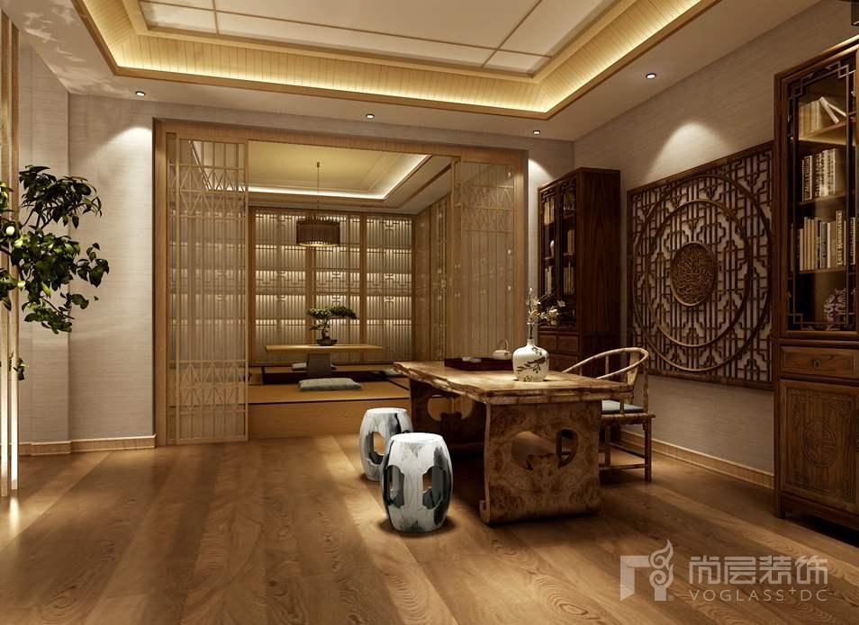 北京院子新中式和室别墅装修效果图