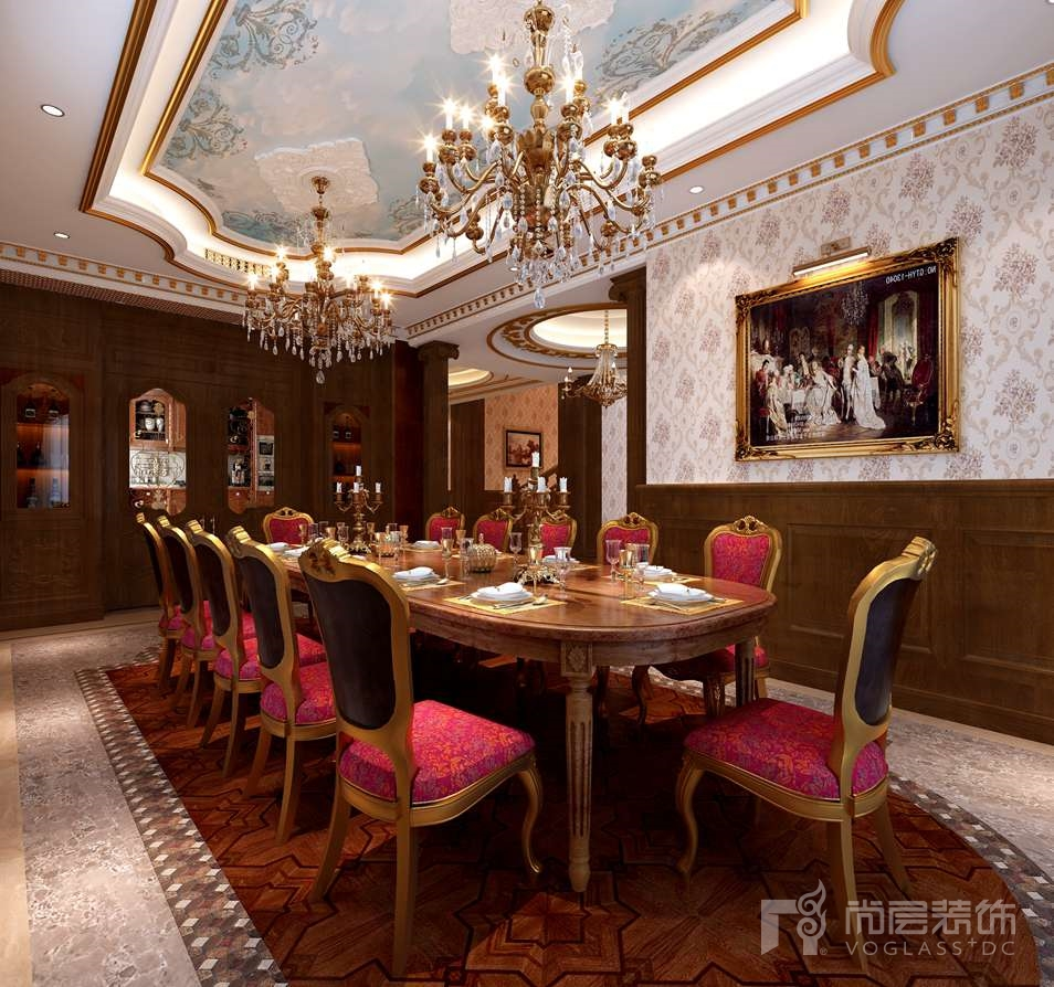 碧桂园古典餐厅别墅装修效果图