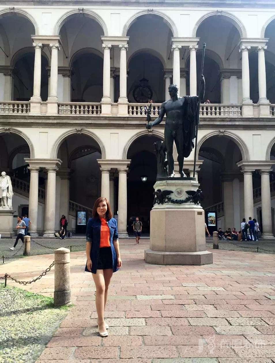 尚层徐海萍在布雷拉美术学院上课