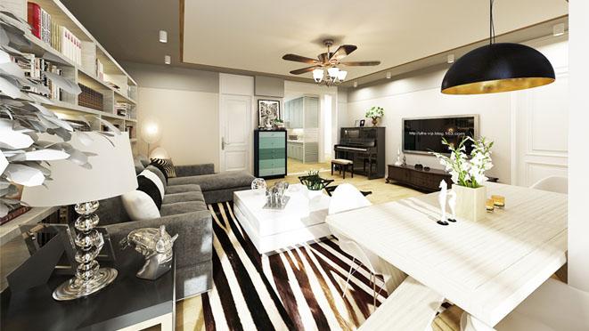 美丽园现代简约客厅别墅装修效果图