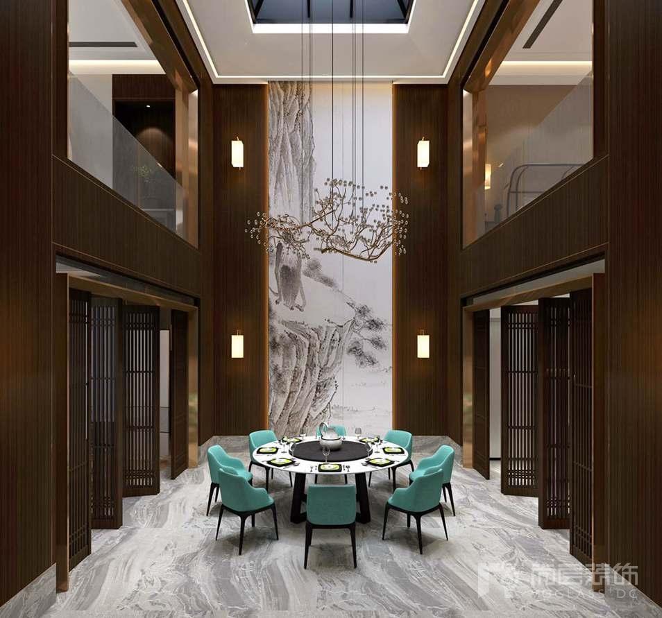 泰禾一号院新中式餐厅别墅装修效果图