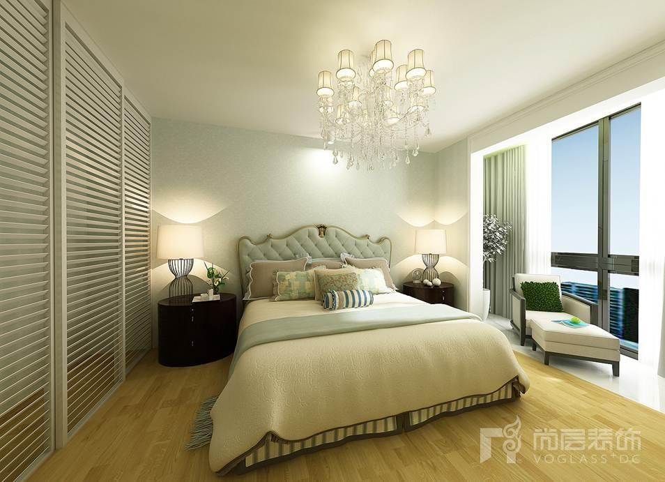 美丽园现代简约主卧室别墅装修效果图