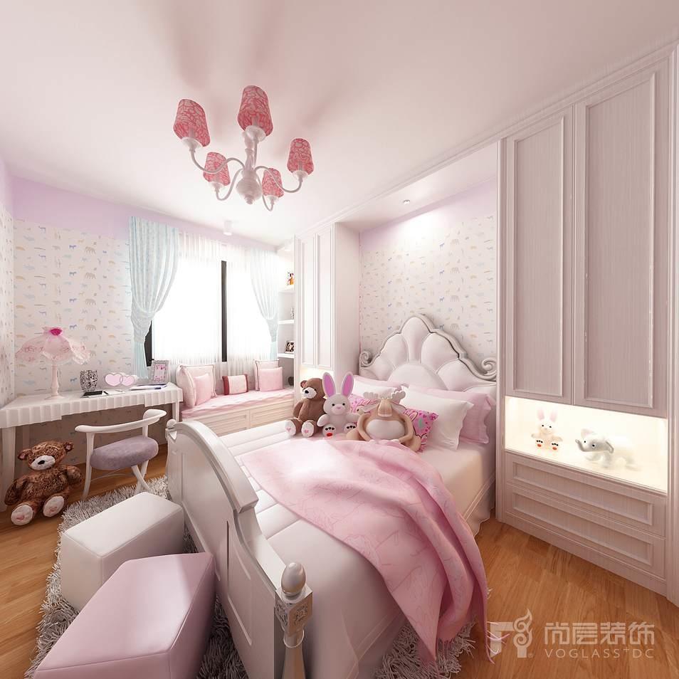 美丽园现代简约女儿房别墅装修效果图