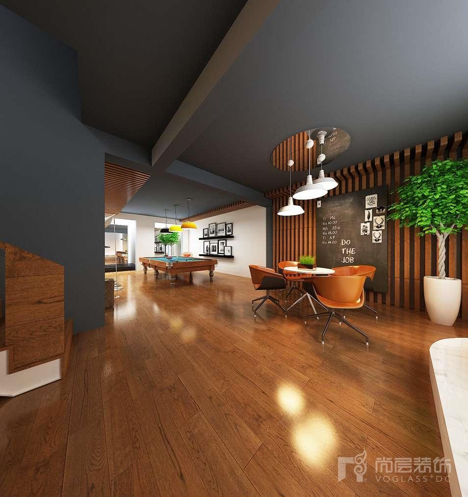 中海尚湖现代简约地下室别墅装修效果图