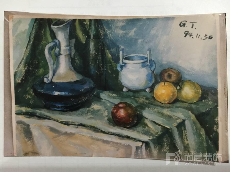 尚层设计师桂涛学生时期的画作