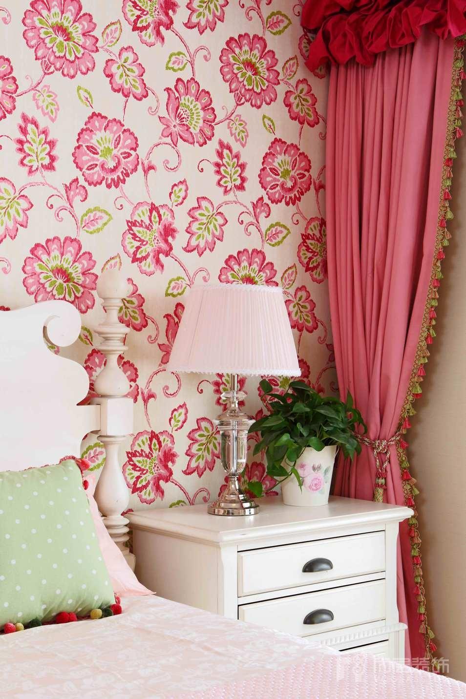 尚层装饰儿童房卧室设计-粉色